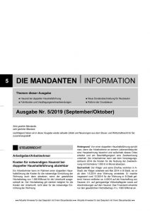 thumbnail of Mandanteninformationen 5-19