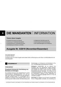 thumbnail of Mandanteninformationen 6-19