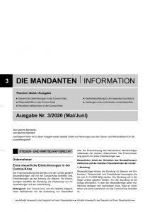 thumbnail of Mandanteninformationen 3-20
