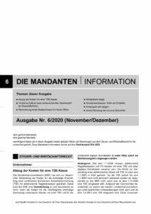 thumbnail of Mandanteninformationen 6-20