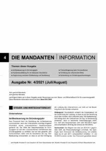 thumbnail of Mandanteninformation 4.2021